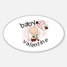 Baby Valentine Oval Decal