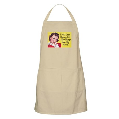 I Don't Cook BBQ Apron