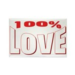100% Love Rectangle Magnet (100 pack)