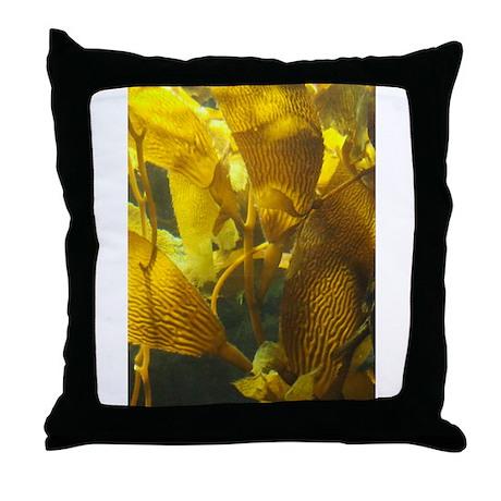 Kelp Algae Up Close Throw Pillow
