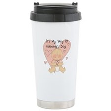 Girl 1st Valentine's Day Travel Mug