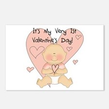 Girl 1st Valentine's Day Postcards (Package of 8)