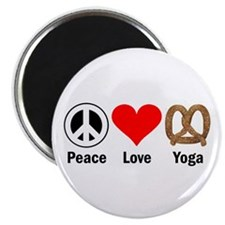 Peace Love Yoga Magnet
