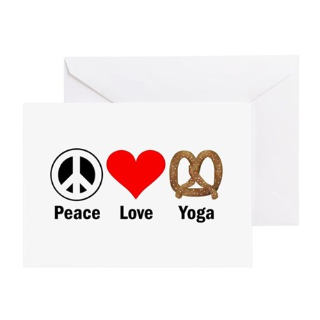 Peace Love Yoga Greeting Card