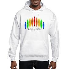 Rainbow of Kayaks Hoodie