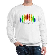 Rainbow of Kayaks Sweatshirt