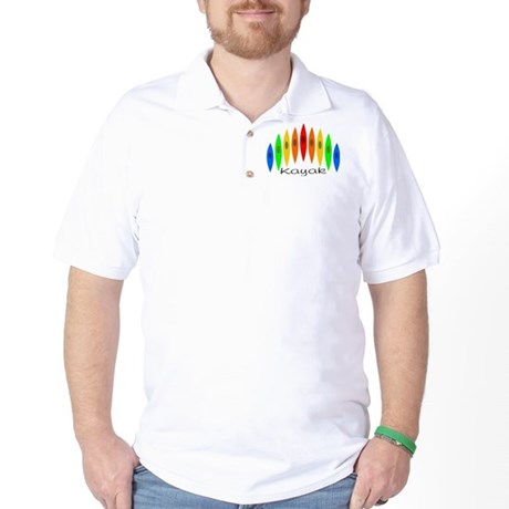 Rainbow of Kayaks Golf Shirt