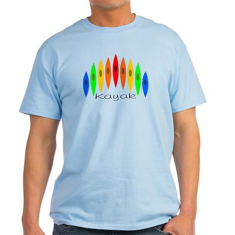 Rainbow of Kayaks Light T-Shirt