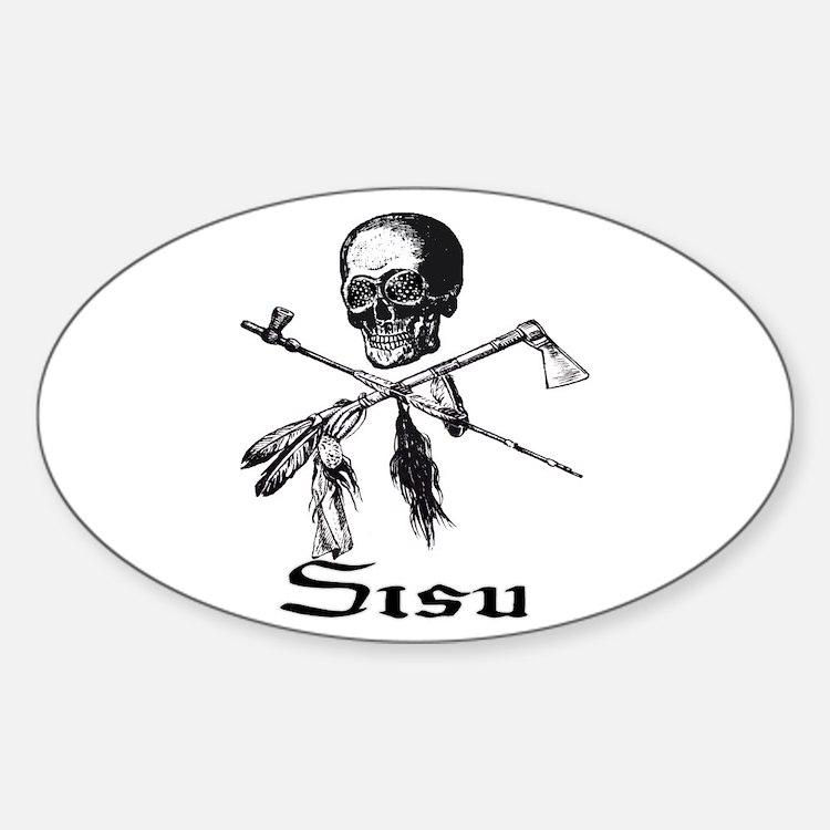 Sisu Pirate Oval Decal