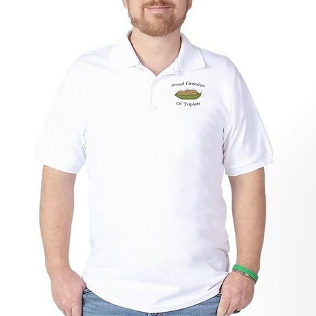 Grandpa Of Triplets Golf Shirt