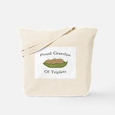 Grandpa Of Triplets Tote Bag
