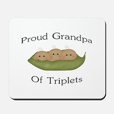 Grandpa Of Triplets Mousepad