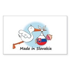 Stork Baby Slovakia Rectangle Decal