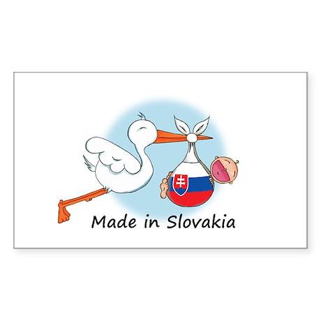 Stork Baby Slovakia Rectangle Sticker