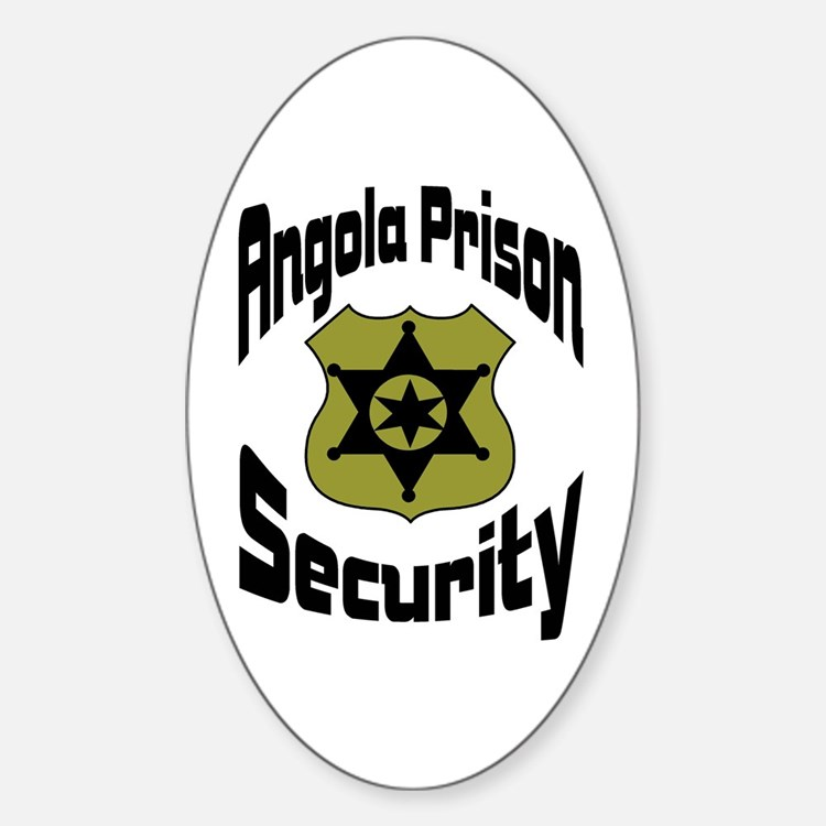 Angola Prison Security Oval Decal