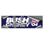 SCRAPING OFF BUSH-CHENEY Bumper Sticker