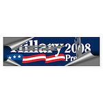 SCRAPING OFF HILLARY Bumper Sticker