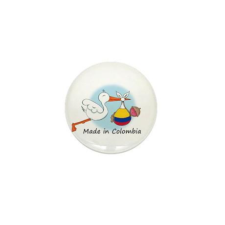 Stork Baby Colombia Mini Button