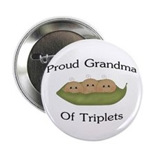 "Grandma Of Triplets 2.25"" Button"