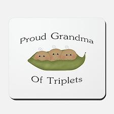 Grandma Of Triplets Mousepad