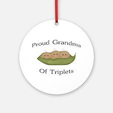 Grandma Of Triplets Ornament (Round)