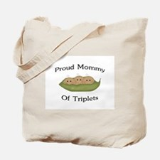 Mommy Of Triplets Tote Bag