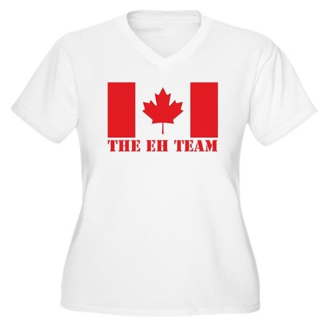 The Eh Team Women's Plus Size V-Neck T-Shirt