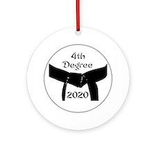 4th Degree Black Belt Ornament (Round)