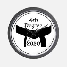 4th Degree Black Belt Wall Clock