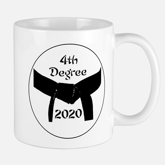 Martial Arts 4th Degree Black Belt Mug Mugs