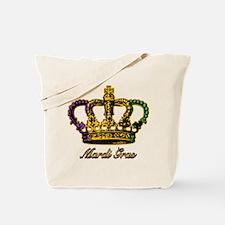 Mardi Gras Flag Crown Tote Bag
