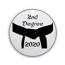 Martial Arts 2Nd Degree Black Belt Ornament