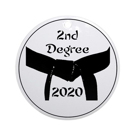 Martial Arts 2Nd Degree Black Belt Ornament