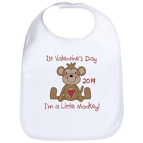 Little Monkey Valentine Bib