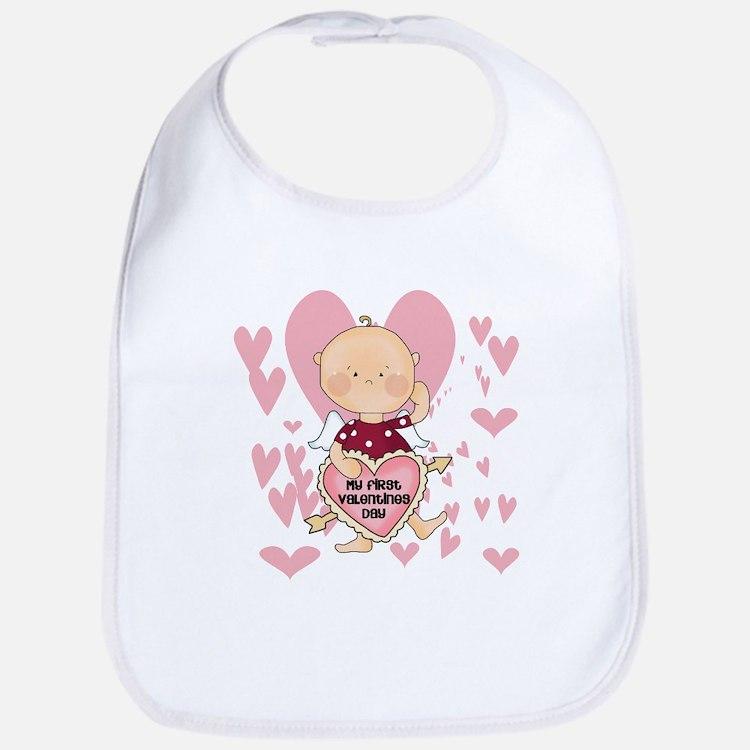 Angel Baby Valentine Bib