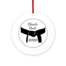 Martial Arts Black Belt 2014 Ornament (Round)