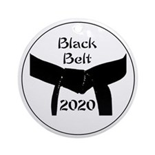 Martial Arts Black Belt 2015 Ornament (Round)