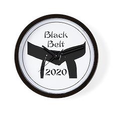 Martial Arts Black Belt 2015 Wall Clock