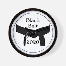 Martial Arts Black Belt 2017 Wall Clock