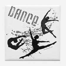 Cute Dancing men Tile Coaster