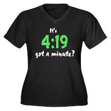 It's 4:19, got a minute? Women's Plus Size V-Neck