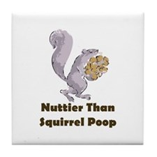 Squirrel Poop Tile Coaster