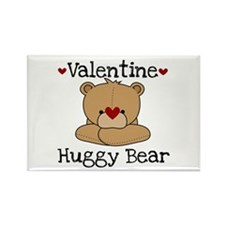 Valentine Huggy Bear Rectangle Magnet