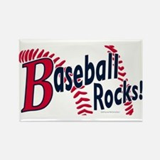Graphic Baseball Rocks Rectangle Magnet
