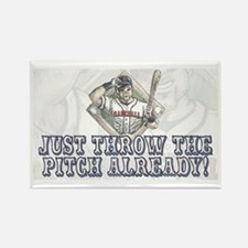 Just Pitch Baseball Rectangle Magnet