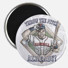 Just Pitch Baseball Magnet