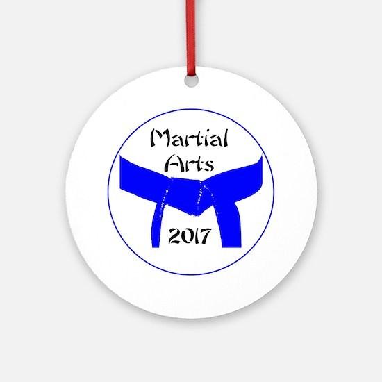 Martial Arts Light Blue Belt 2017 Round Ornament