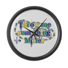 Throw me mister bc Large Wall Clock