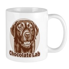 Chocolate Lab - Monochrome Small Mug