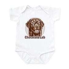 Chocolate Lab - Monochrome Infant Bodysuit